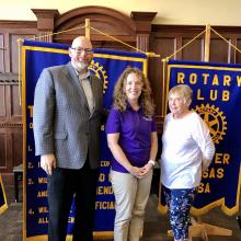 Jenny Shipman (middle) with Norm Duncan and Cathy Harmon